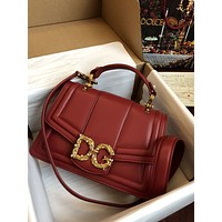 D&G DOLCE & GABBANA WOMEN'S LEATHER Amore HANDBAG SHOULDER BAG
