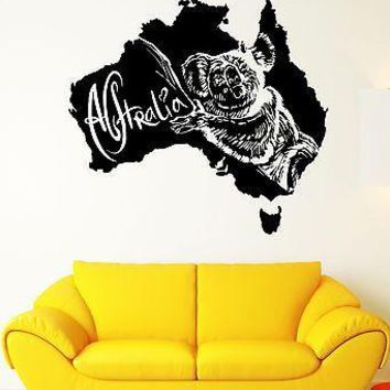 Wall Stickers Koala Animal Australia Tribal Art Mural Vinyl Decal Unique Gift (ig1940)