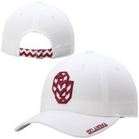 Oklahoma Sooners Top Of The World Ladies Chevron Crew Adjustable Hat – White