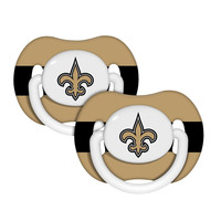 2-Pack Pacifiers - New Orleans Saints