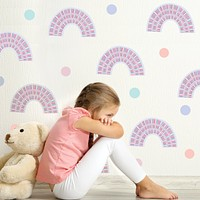 Pastel Rainbow Wall Decals, Nursery Wall Decals, Rainbows, Polka Dot Wall Decals, Peel and Stick Decals Not Wallpaper