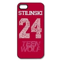 Teen Wolf Stilinski 24 iPhone 5 5S Full protection Durable Cover Case