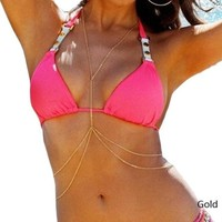Beach Body Jewelry Chain Double Layer