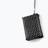 Studded mini clutch