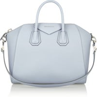 Givenchy - Medium Antigona bag in dusky-blue textured-leather