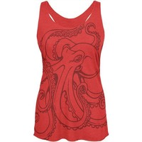 LMFCY8 Octopus Outline Womens Soft Racerback Tank Top