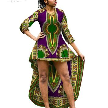 African Clothing African Dresses for Women Maxi Dresses Long Sleeve Puls Size Dress Summer Brand Designer Dashiki African WY357