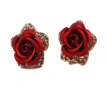Rose Earrings - 50% OFF & FREE DELIVERY!