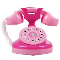 Pink Phone Toy Children Educational Emulational Plastic Phone Pretend Play Toys Girls Electronic Toy Phone Gifts
