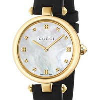 Gucci Diamantissima Leather Strap Watch, 32mm | Nordstrom