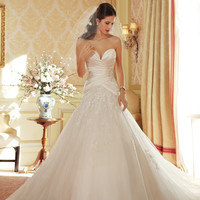 Sophia Tolli by Mon Cheri Y11404 Strapless Sweetheart Satin A-Line Bridal Gown