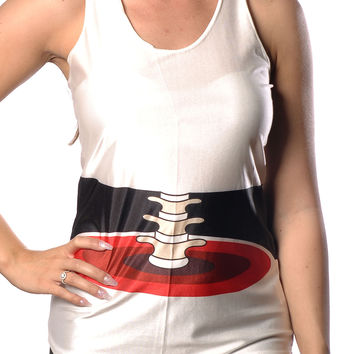 Exposed Spine Tank Top Design 13025