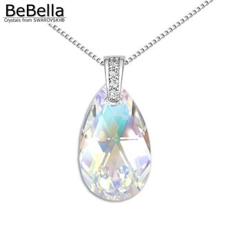 BeBella pear shaped pendant necklace made with Austrian crystals from Swarovski crystal drop pendant for 2017 women gift