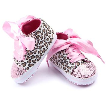 Baby Sequin Sneakers Shoes Bling Toddler Crib First Walkers / 17 color choices