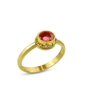 ALL NEW Twilight Ring - Granulated 22k Tourmaline