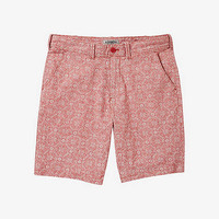 10 Inch Linen-cotton Tile Print Flat Front Shorts from EXPRESS