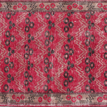 Sale Traditional Design Turkish Vintage Rug 6'1'' x 3'6''  Free Shipping
