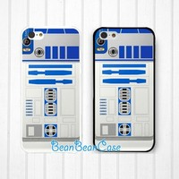 R2D2 star wars case for iPhone 6/4s/5/5s/5c, Samsung S5/Note4, Sony, LG Nexus, Nokia Lumia, HTC One M7/M8, Moto X Moto G (K18)
