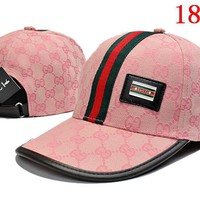 Pink Gucci Embroidered Hat Baseball Cap Hat 1749