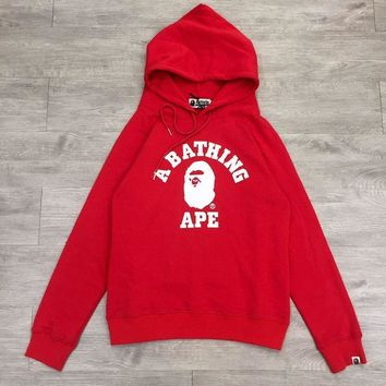 hcxx A Bathing Ape College Hoodie