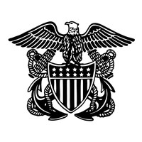 US Navy Officers Crest Retro Vinyl Decal car decal Navy decal truck decal window decal custom decal United States Navy decal