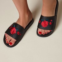 Kirra Embroidered Slide Sandals at PacSun.com