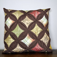 Silk Throw Pillow  Cathedral Window Classic by ModernMeetsClassic