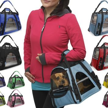 OxGord Pet Carrier Cat Dog Comfort Travel Tote Bag Airline Approved