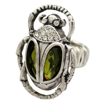 Egyptian Scarab Stone Ring