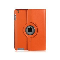 High quality 360 Rotating Leather Case Cover Stand for iPad 2