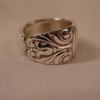 A Spoon Rings Plus Lovely Spoon Ring Size 7 Antique Handmade Spoon and Fork Jewelry t422