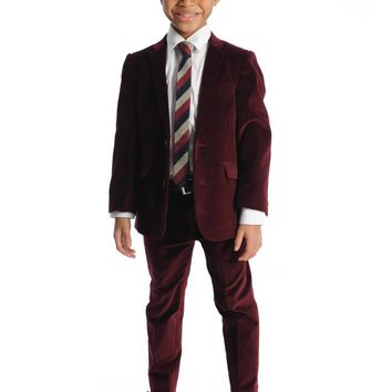 Appaman Boys' Tibetan Red Velvet Mod Suit