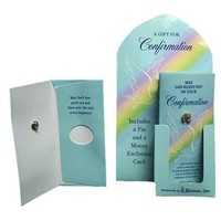 Club Pack of 24 Confirmation Day Gift Money Cards & Pins #94213
