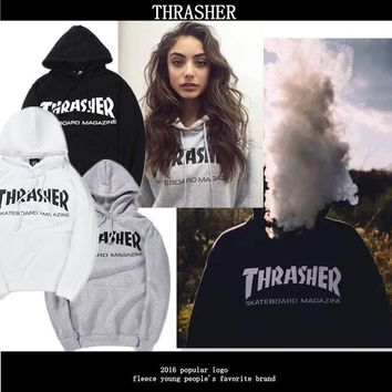 THRASHER Cotton Hoodie Sweater S-XXL