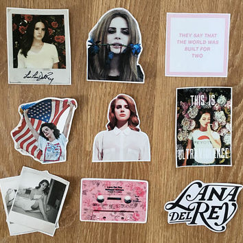 Lana Del Rey stickers - fan/tumblr/indie