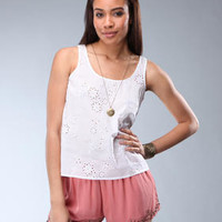 DJPremium.com - Women - Shop by Brand - Clearance Items Over 60% Off - Charlie Sleeveless Eyelet Top