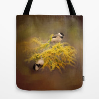 Pot of Gold - Chickadees - Song Birds - Wildlife Tote Bag by Jai Johnson