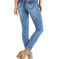 Med Wash Denim Push Up Legging Jeans by Charlotte Russe