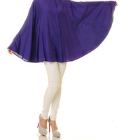 Violet Kaftan Top Tunic / Poncho Blouse / Batwing Shirt / Long Sleeved Blouse / Plus Size Kaftan Blouse - One Size Fits All (8095)