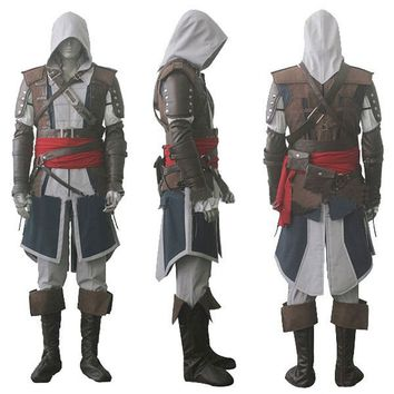 Assassin's Creed IV 4 Black Flag Edward Kenway Cosplay Costume Whole Set