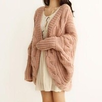Cuddly coat in Pink
