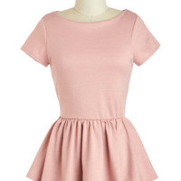 New Girl Courage Top in Rose | Mod Retro Vintage Short Sleeve Shirts | ModCloth.com