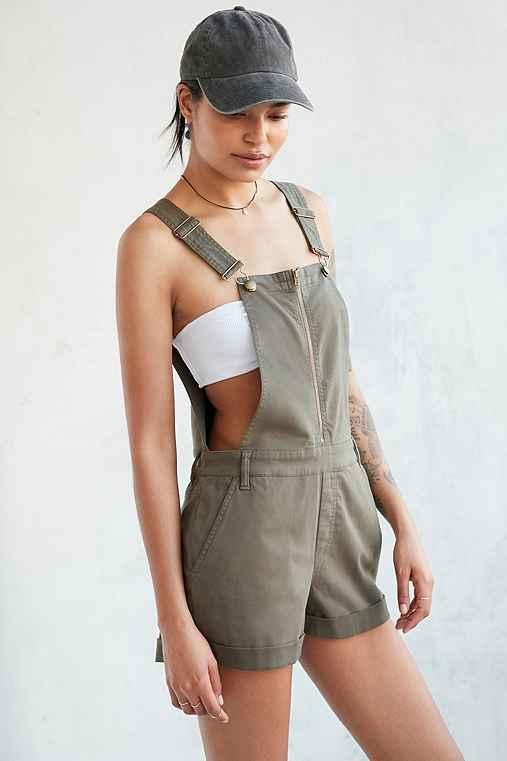 011c172a59 BDG Utility Zip-Front Shortall Overall from Urban Outfitters