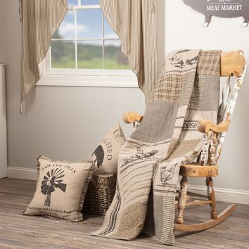 Sawyer Mill Charcoal Farm Animal Throw