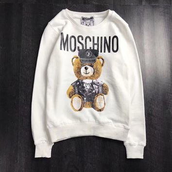 Moschino Woman Men Fashion Bear Top Sweater Pullover