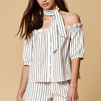 Honey Punch Stripe Off-The-Shoulder Top at PacSun.com