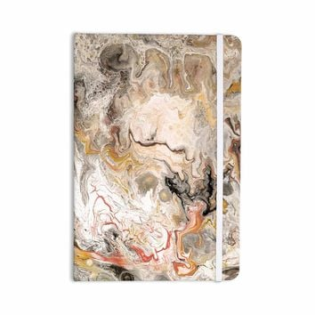 """Catherine Holcombe """"Earth Marble"""" Brown Tan Abstract Geological Painting Everything Notebook"""