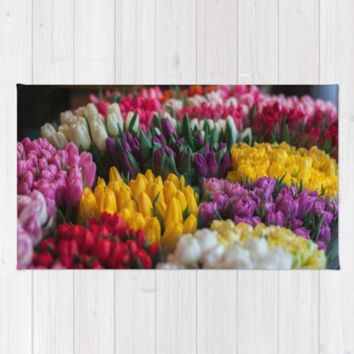 tulip heaven Rug by Happy Home Artistry
