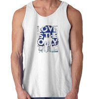 Bon Jovi Love s The Only Rule For Mens Tank Top Fast Shipping For USA special christmas ***