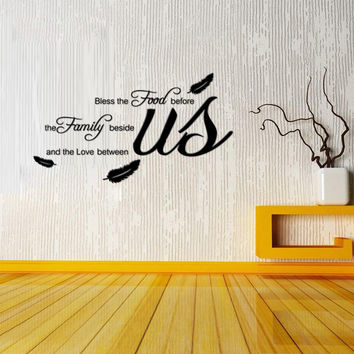 Religious Dining Room Vinyl Wall Decal